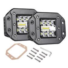 "4"" Tri Row Flush Mount LED Pod Work Light Bar Driving Flood Spot Combo Truck 4WD"