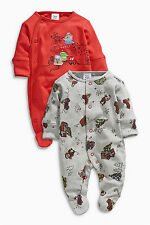 ВNWT NEXT Babygrows Playsuits • Embroidered Sleepsuit 2pk • 100% Cotton • 6-9mon