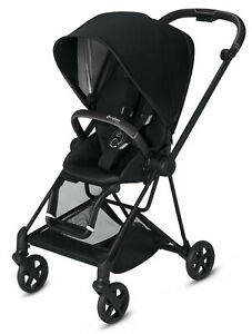 Cybex Mios 2 Lightweight Compact Single Baby Stroller Black Frame Premium Black