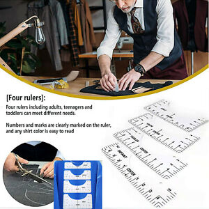 ✅ 4pcs T-Shirt Ruler Guide Vinyl T-Shirt HTV Alignment Tool Design T-shirt Set