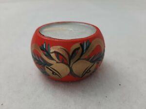 Wooden Red Christmas bell Design Tea Light Candle Holder