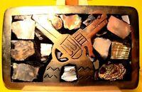 VINTAGE Hand Made & Engraved CROSSED PISTOLS 6 SHOOTER Belt Buckle
