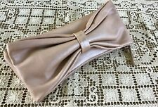 FURLA NUDE METALIC LEATHER CLUTCH BAG - WEAR LARGE SIDE BOW OVER HAND