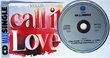 YELLO CD Call It Love 1987 GERMAN Maxi w/ Billy Mackenzie 3 Track MINT