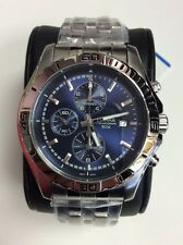 PULSAR Sport Collection Stainless Steel Blue Dial Chronograph WATCH PF8397