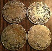 LOT OF 4 CANADA SILVER 25 CENTS COIN