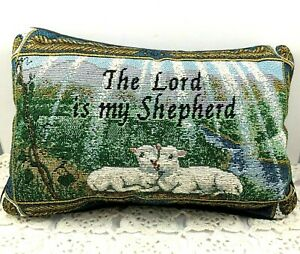 "The Lord Is My Shepherd Tapestry Pillow 12"" x 7"""