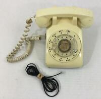 Vintage Rotary Dial Phone 1984 Yellow Desk Western Electric Plug Needs Repair