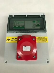 Three, 3 phase 16A,32A, 63A, 5 Pin RCD Industrial CEE Socket.Distribution board.