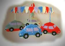 BUMPER CAR MOBILE toy baby knitting pattern by GEORGINA MANVELL