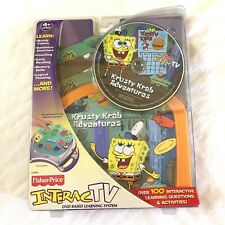 Fisher Price~Krusty Krab Adventures!~for the interac TV DVD System~NEW IN PKG!~