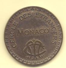 MONACO -- MONTE CARLO -- Jeton de 100 Francs --- CERCLE des ETRANGERS de MONACO