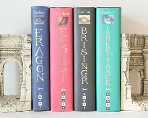 Lot of 4 (#1-4) ERAGON INHERITANCE CYCLE Complete Series Set of HARDCOVER Books