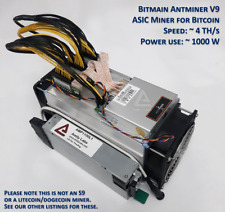 Home Mining Kit: New Bitmain Antminer V9 + Power Supply + Cables + Manuals