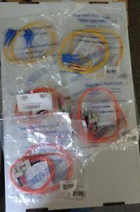 NEW FIBER OPTIC PATCH CORDS LOT OF 9