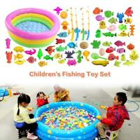 Kids Magnetic Fishing Fun Toy Fish Rod Model Game Child Baby Bath Time Play Sets