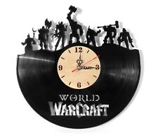 "NEW  Vinyl Record Wall Clock ""WarCraft Warlords of Draenor"", modern art ~ 12"""