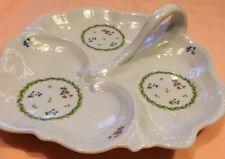 Vint Limoges Porcelaine Castel France Tableware Serving Platter Handeled