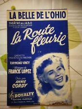 """Partition  """" La belle de l'ohio""""  Annie Cordy"""