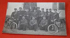 CPA photo groupe poilus Soldats première guerre mondiale courrier