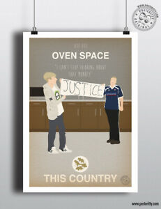 THIS COUNTRY - SE01E03 Oven Space Minimalist Sitcom Poster Minimal TV Posteritty
