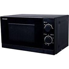 Sharp R200BKW Schwarz Elektro Mikrowelle 20 l Garraum 800 Watt 5 Leistungsstufe