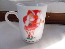 Erika Oller Tra La - La Christmas Coffee Cup Mug Woman in Santa Outfit
