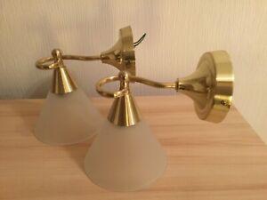 A Pair of  Brass Wall Lights