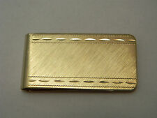 Mens Money Clip Groomsman Gift ,Solid Brass,18k Gold Plated ,Made In Usa, Diam.