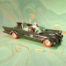 "Corgi Toys 5.4"" BATMOBILE Black Diecast CAR Vintage No267 Batman RARE Red Wheels"