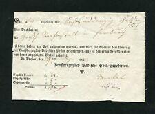 """Baden - 1849, Postschein """" St.Blasien """" (#3088)"""
