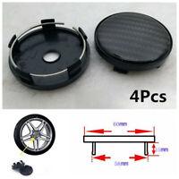 4X 60mm/58mm Universal Carbon Fiber Surface Car SUV Wheel Center Hub Caps Cover