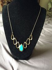 Melinda Maria Dorothy Gold Plated Turquoise Necklace $150 Retail
