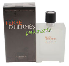 Terre D'hermes by Hermes for Men After Shave Lotion 3.4/3.3 OZ 100 ML New In Box