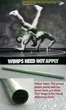 NITF ☆ Vintage ☆ NIKE Wrestling Poster ☆ Wimps Need Not Apply ☆ OLD STOCK