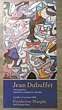 DUBUFFET Jean ART BRUT Affiche originale Dada Hourloupe art abstrait 1985
