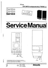 Service Manual-Anleitung für Philips F 9638