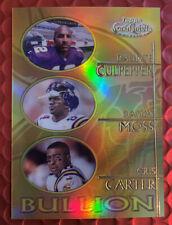 2000 Topps Gold Label Daunte Culpepper Randy Moss Cris Carter Bullion Vikings