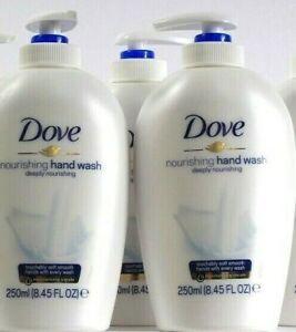 3 Bottles Dove 8.45 Oz Deeply Nourishing 1/4 Moisturizing Cream Hand Wash
