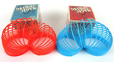 "1 MAGIC SPRING (Red or Blue) Slinky Retro Toy Walks Stairs Tricks Large 3"" Size"