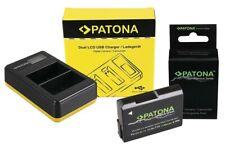 PATONA Dual LCD USB Ladegerät Inklusive Nikon EN-EL14 Akku für D5200 P7700