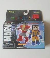 New Marvel Universe MiniMates Colossus & Wolverine 2 Pack Mini Collectibles