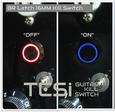 Tesi BR LATCH 16MM LED Latching Guitar Kill Switch Black Blue/Red LED