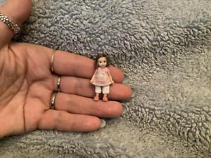 Miniature handmade 1/24 half scale LITTLE GIRL CHILD ooak DOLLHOUSE JOINTED