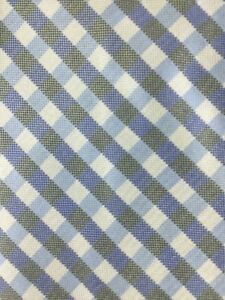 """Profuomo Green and Blue Checkered Tie L 58"""" W 4"""" N1-19"""
