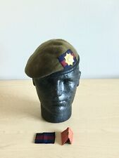 British Army-Issue Coldstream Guards Beret, Formation Badge & TRF. Size 54cm.