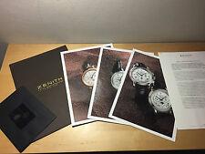 Press Release ZENITH Llegan los Grandes ChronoMaster El Primero - For Collectors