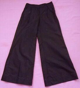 M&S LIMITED COLLECTION Black Linen Cotton Trousers - UK8M