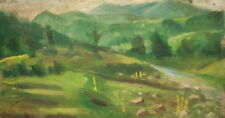 European Art, Antique Impressionist Oil Painting, Landscape