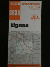 CARTE IGN orange 3633 tignes  1984
